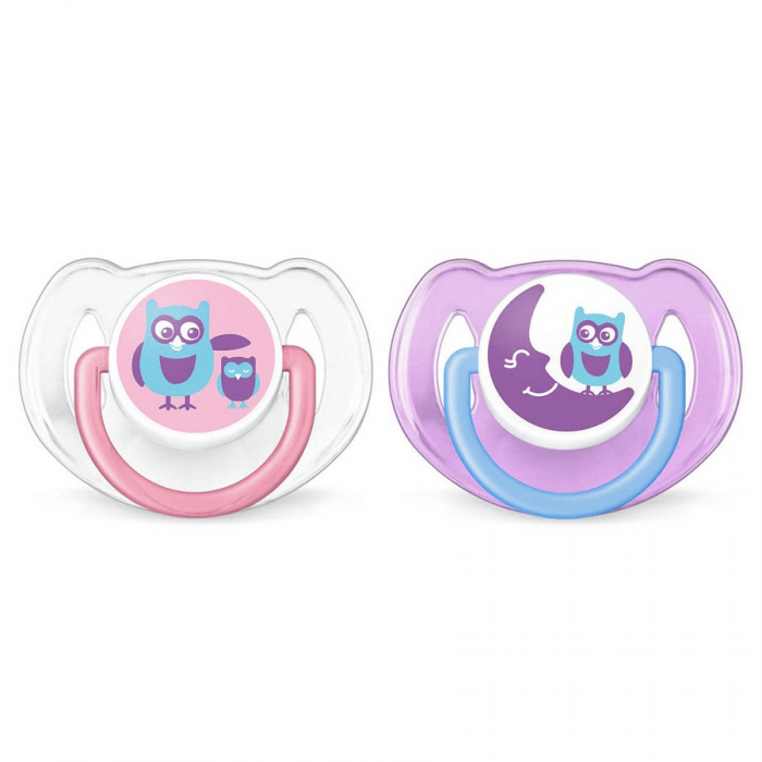Avent 6-18 Months Silicone Soothers Pack Philips Fashion Orthodontic 2 Twin