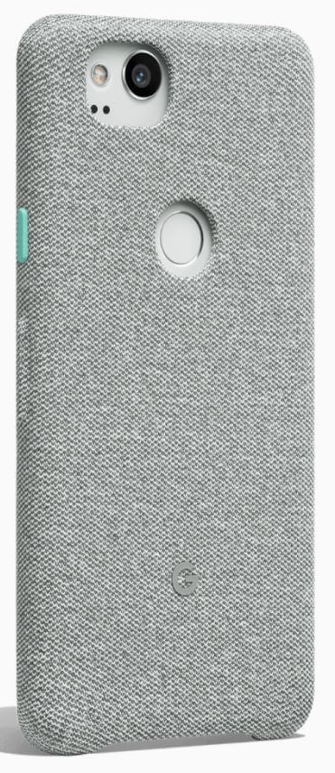 pretty nice 169d0 64996 Google Official Pixel 2 | Pixel 2 XL (6-inch) Fabric Case - Cement or Coral